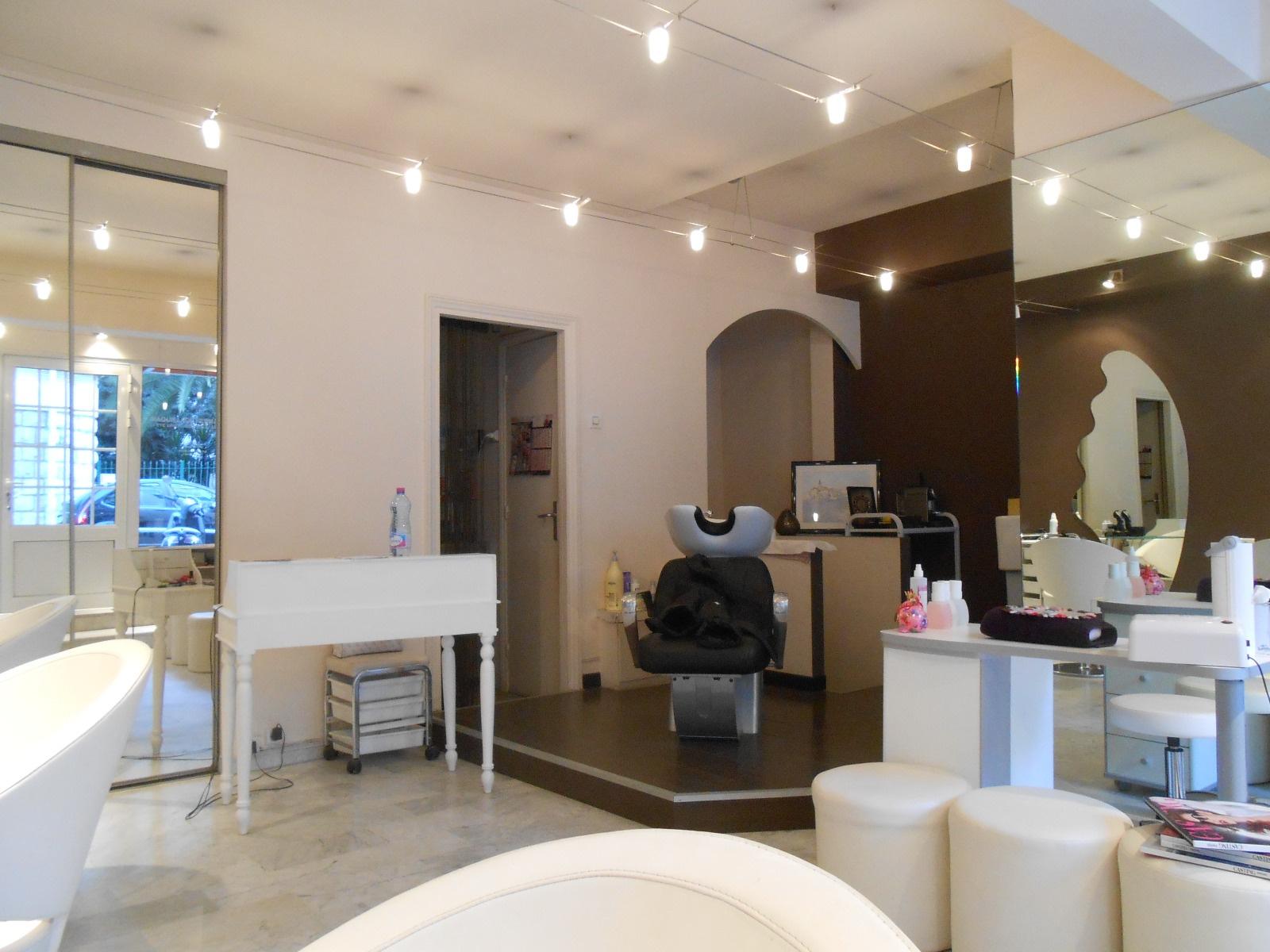 vente commerce salon de coiffure esthetique nice